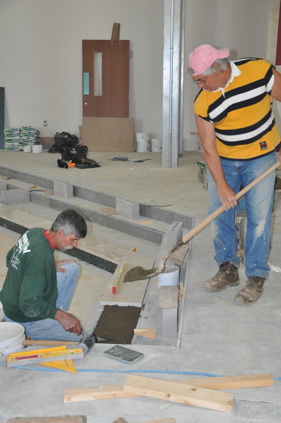 Marble Floor Installation : St joseph new church marble floor work