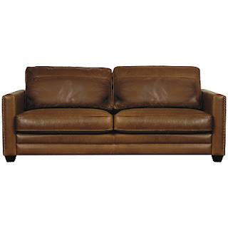 Sofa brown leather vintage