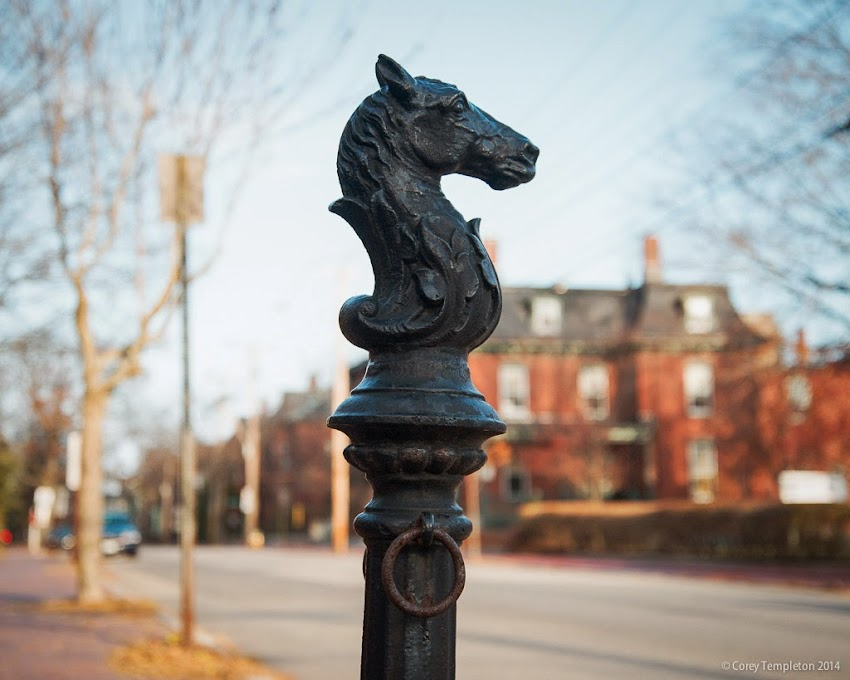 Portland, Maine horse tie up post thing on Spring Street in the West End photo by Corey Templeton November 2014