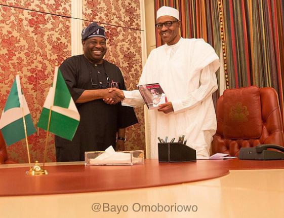 Dele Momodu visits President Buhari at Aso Rock