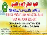 INFO BEASISWA S1 Full 2012-2013 Di Mahad Aly An-Nuaimy Jakarta