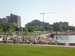 Cycling on the Burlington Ontario Waterfront