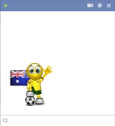 Australian football smiley