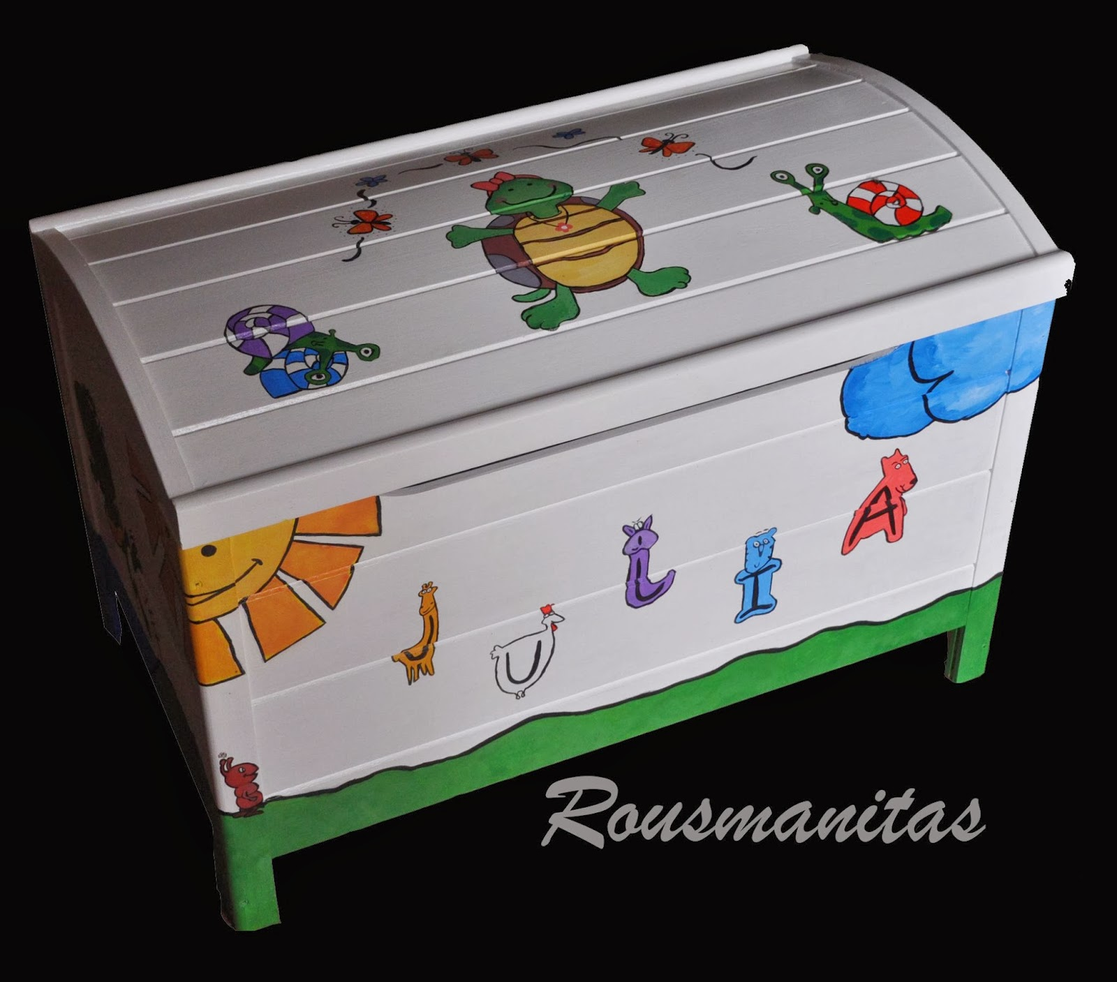 Rousmanitas ba l infantil for Baul madera infantil