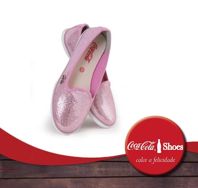 sapatilha rosa com brilho Coca-Cola Shoes