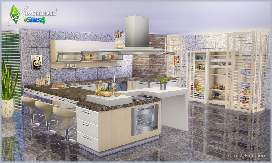 my sims 4 blog kitchen set by simcredible designs. Black Bedroom Furniture Sets. Home Design Ideas