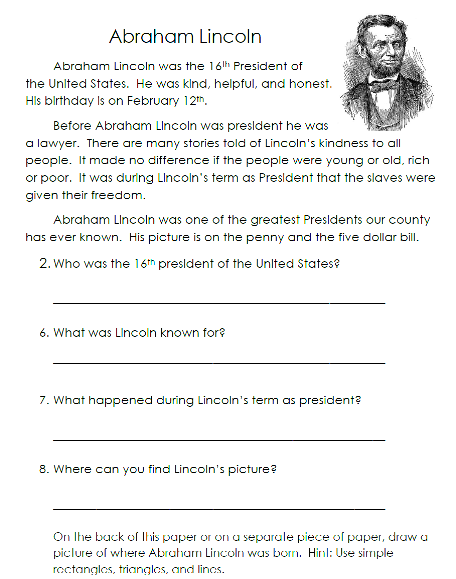 worksheet abraham lincoln worksheets grass fedjp worksheet study site. Black Bedroom Furniture Sets. Home Design Ideas