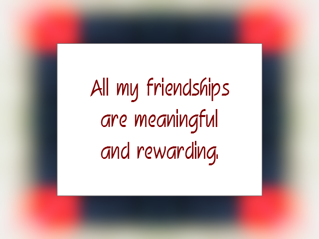 FRIENDSHIP affirmation