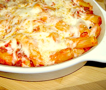 Baked Rigatoni Pancetta Pasta - Yummi Recipes