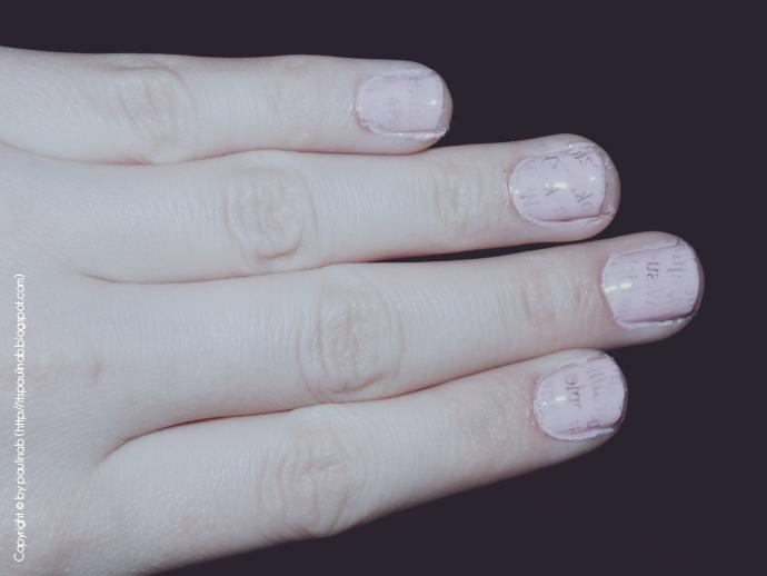 Chcesz poczytać... ? :) Czyli efekt gazety na paznokciach