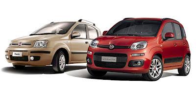 Fiat Panda 2003 a confronto con la nuova Fiat Panda 2012