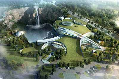 Underground-Resort-in-China-Songjiang Shimao Hotel
