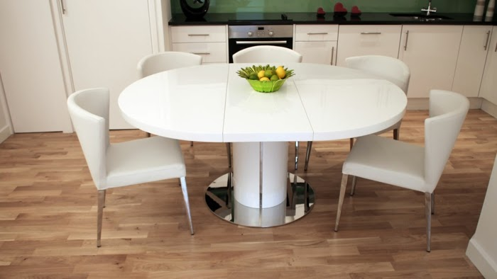 Modern Extendable Dining Table Image of modern extendable dining