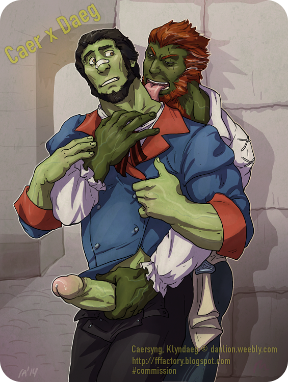 world of warcraft orc character gay fanart  by garikaliev adult drawings cartoon jerk off big fat dick bara green skin