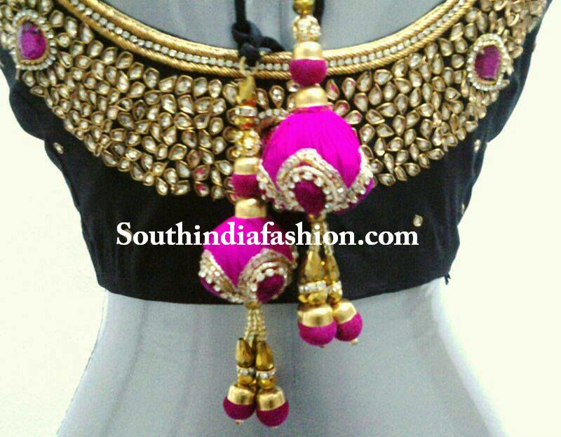 latest kundan work blouse 2014