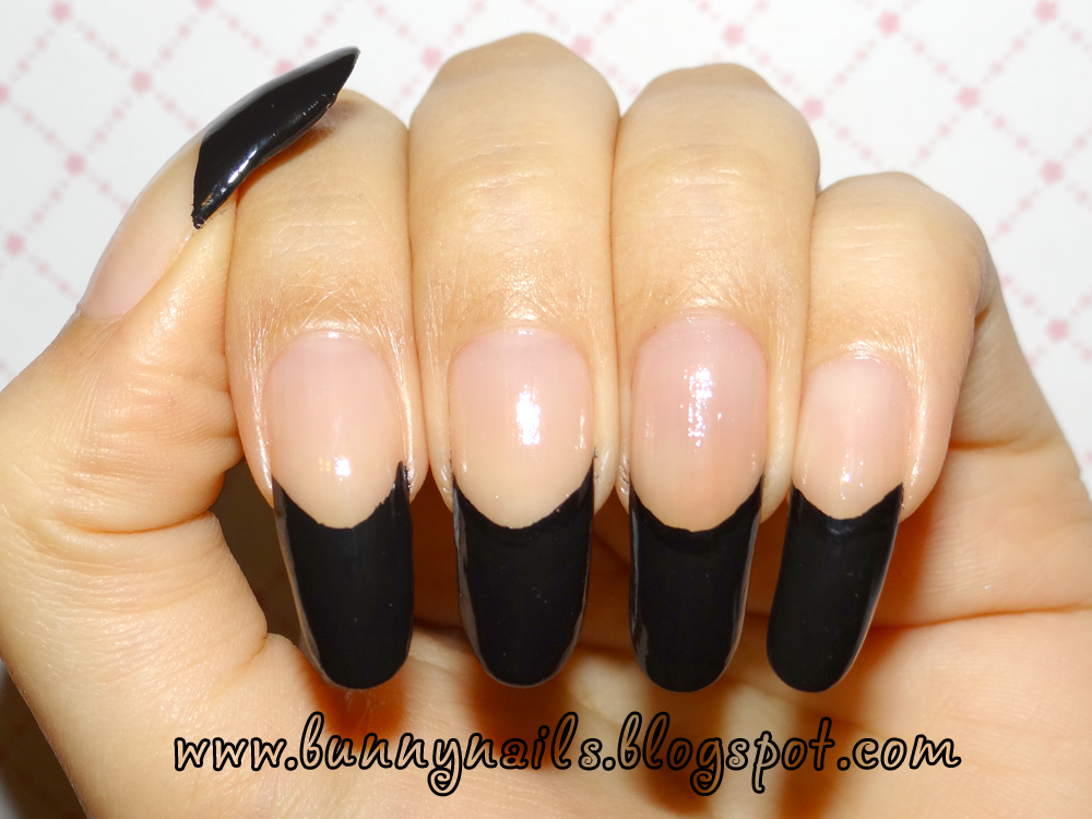 modern nail color: Black Lace and French Manicure and How to