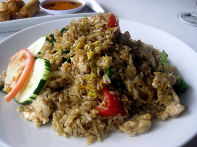 Basil Fried Rice - Dusitra Thai Cuisine - North Haven, CT - Photo by Taste As You Go