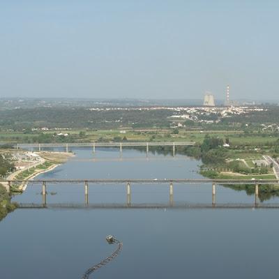 Barragem em Abrantes - Vista aérea