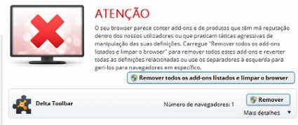 Como remover o Portal dos Sites do navegador