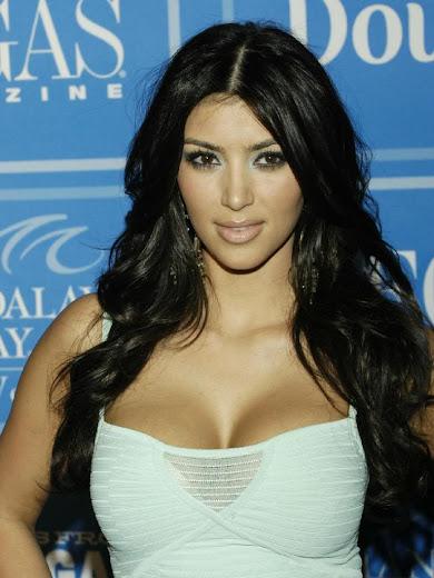 Kim Kardashian in white top