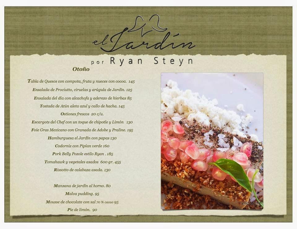 Notas del valle de guadalupe menu report el jardin por ryan steyn - Jardin des crayeres menu ...