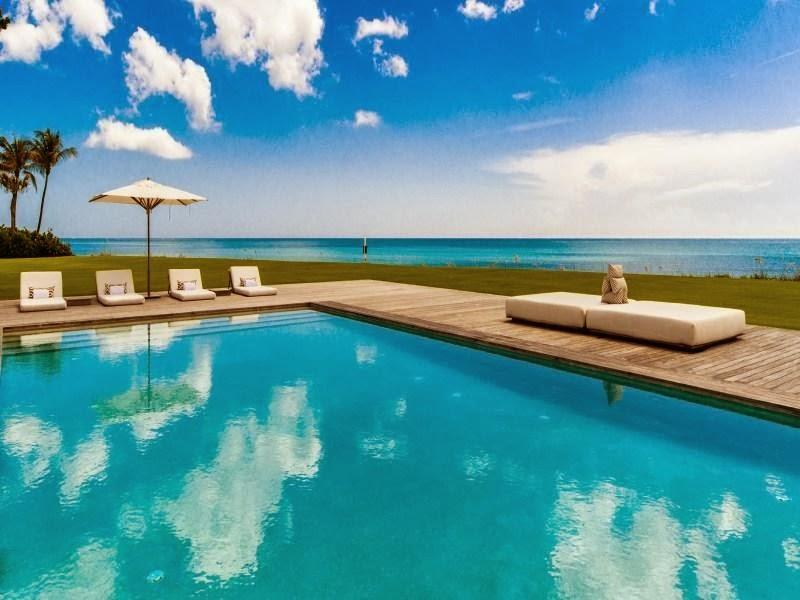 Swimming pool in Custom built celebrity home for Celine Dion