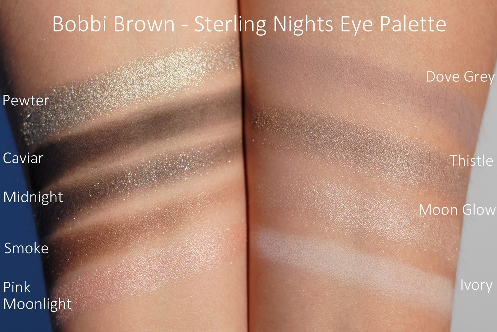 bobbi brown sterling nights eyeshadow palette holiday collection swatches