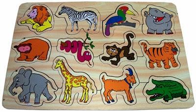 mainan edukasi puzzle zoo