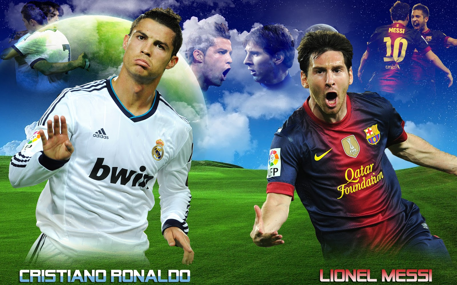 Cristiano Ronaldo Vs Lionel Messi New Nice Hd Wallpapers 2013