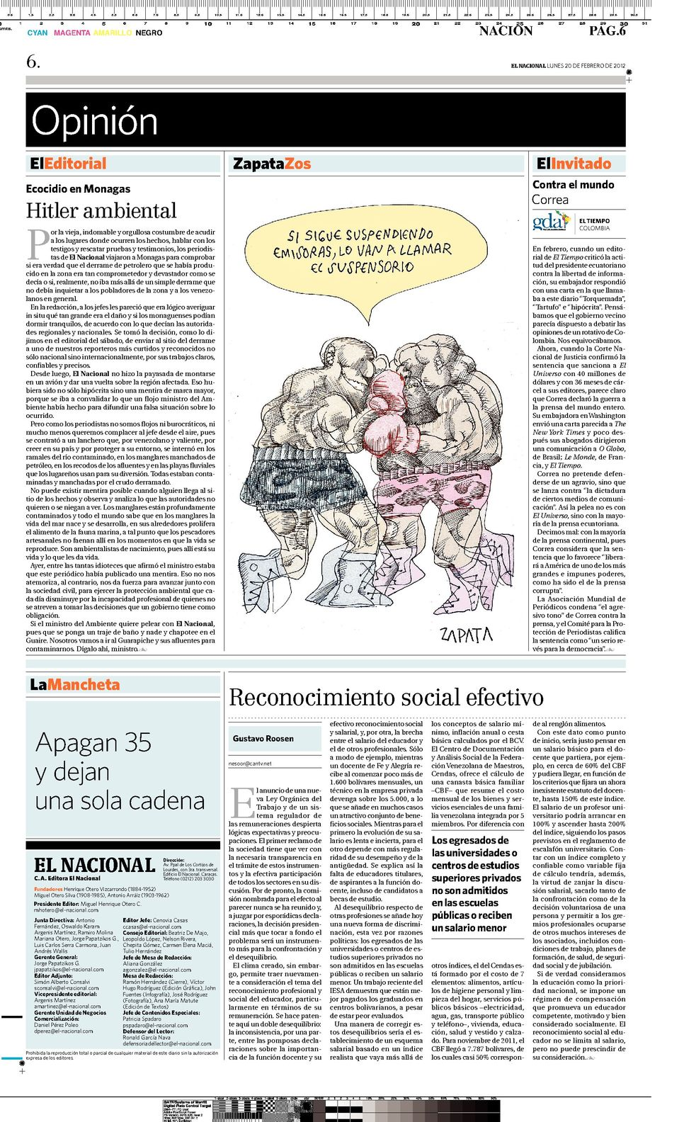 Periodismo comunitario mancheta for Editorial de un periodico mural