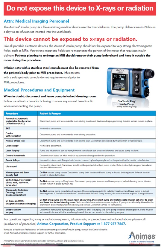 Refer To The Caregiver Warnings In Before You Section Of Animas Vibe Insulin Pump Cgm System Owner S Let For More Information