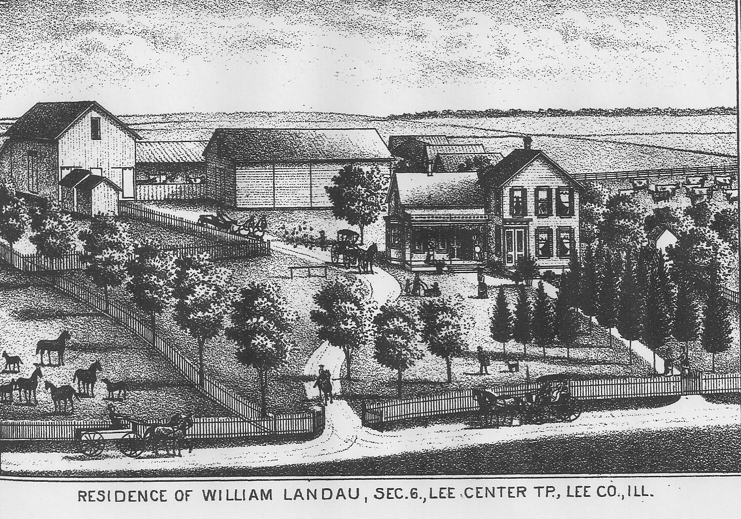Illinois lee county lee - The Portrait And Biographical Record Of Lee County Illinois Published In 1892 Includes This Sketch Of The Landau Farm Click On Image To Enlarge It