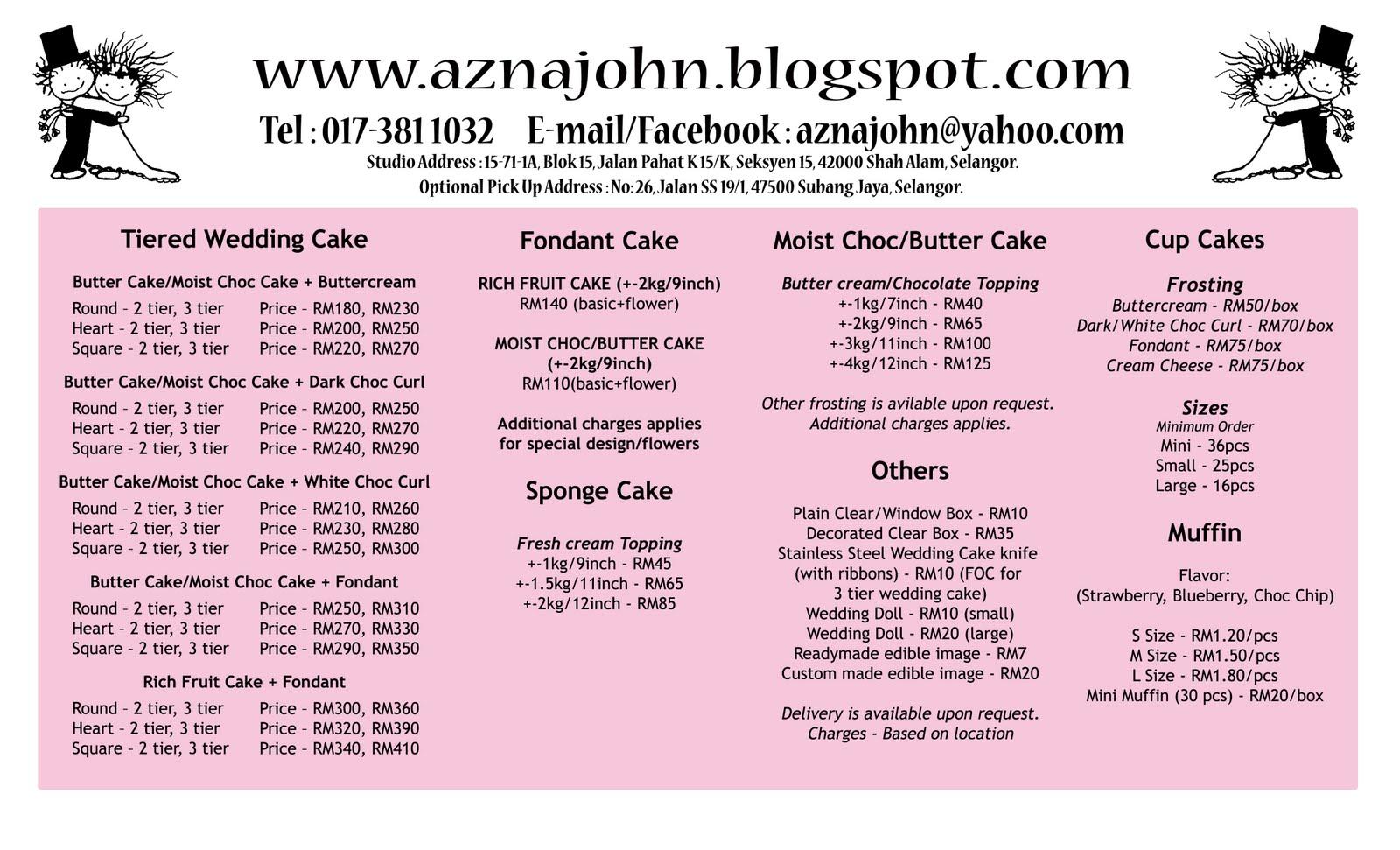 walmart cake price list