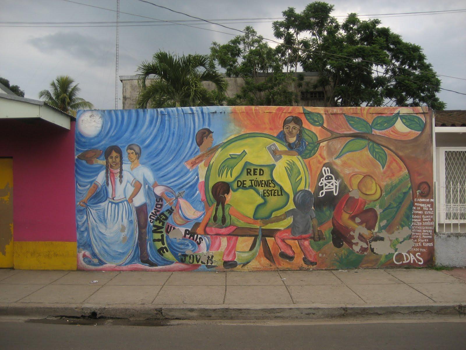 Danya ned in nicaragua trip to estel a city of murals for Mural nicaraguense