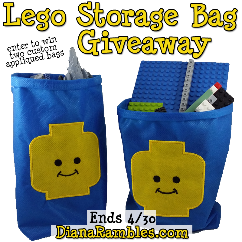 Lego Custom Appliqued Storage Bag Giveaway