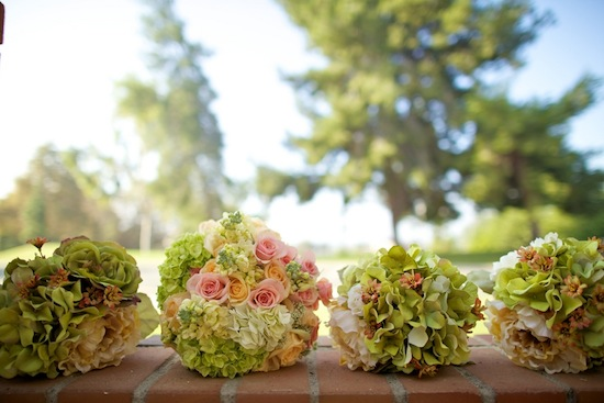 bride's and bridesmaids bouquets