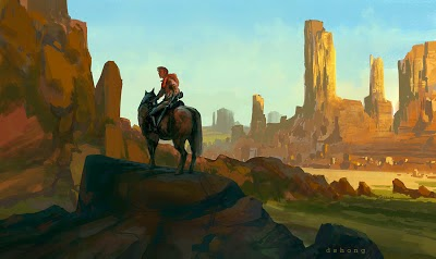 Digital Painting Western by D.S. Hong