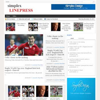 Simplex LinePress Blogger Template