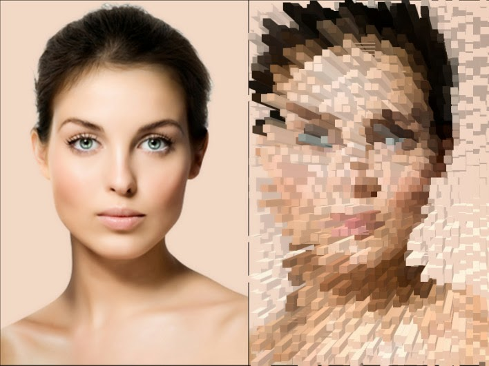 cara membuat efek extrude di photoshop CS6