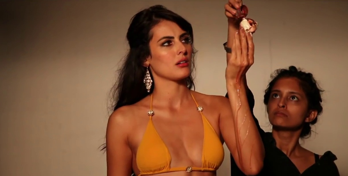 model mandana karimi during photoshoot image