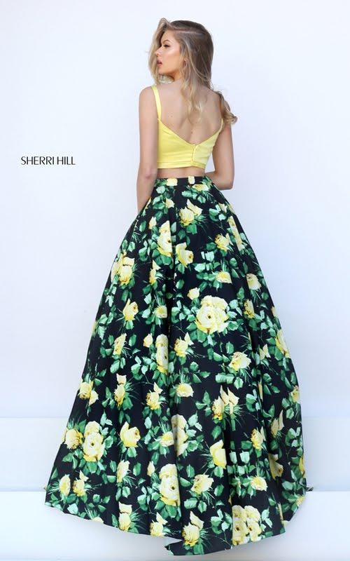 yellow dress long sleeve 2 piece