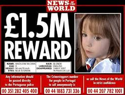 Why don't the McCanns advertise the reward?