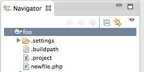 Eclipse File Navigator