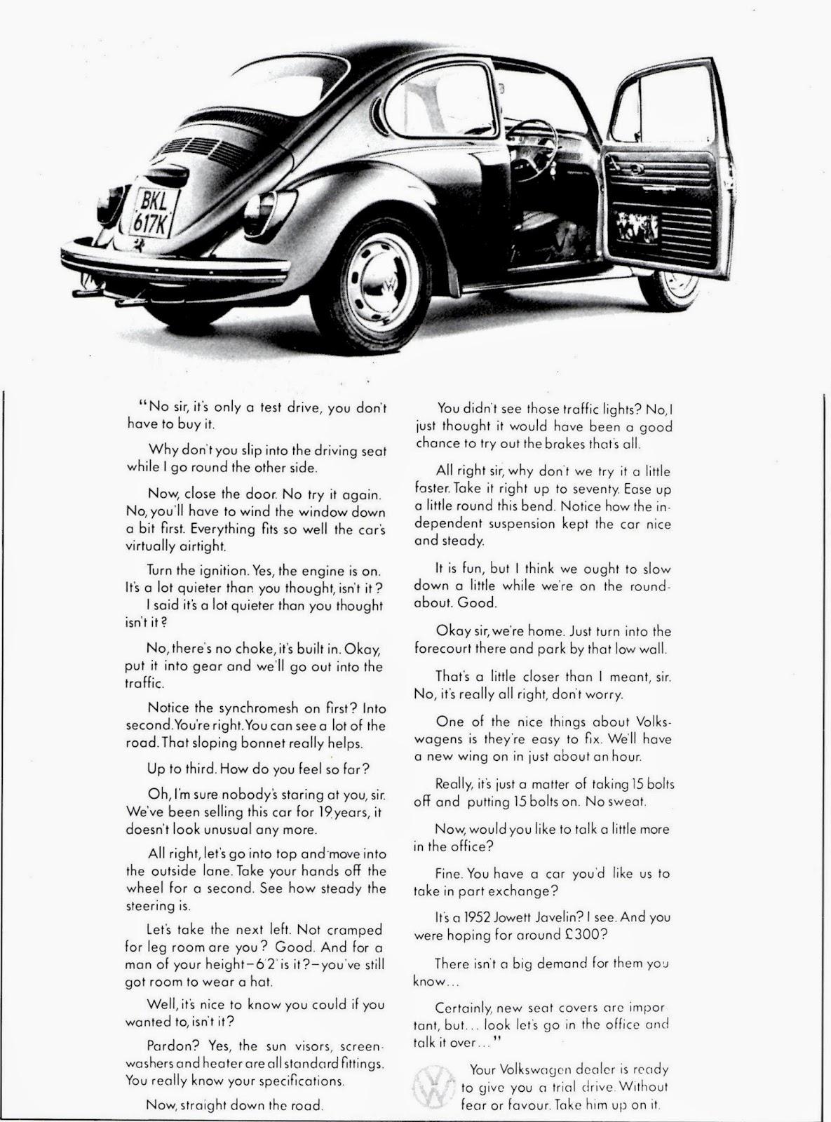 volkswagen ad david abbott copywriter