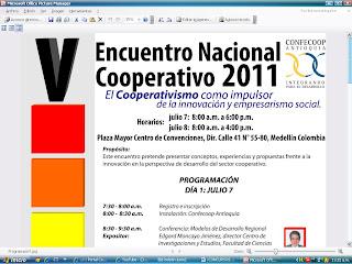 Encuentro Nacional cooperativo 2.011