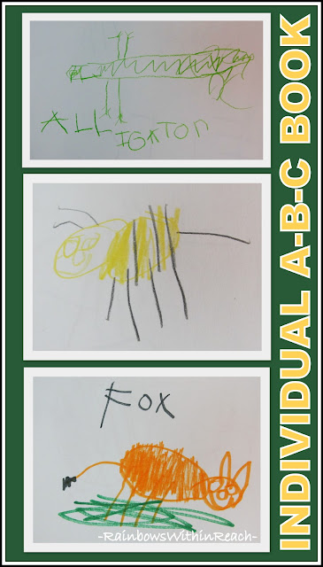 photo of: Kindergarten Child's Drawings for ABC Book