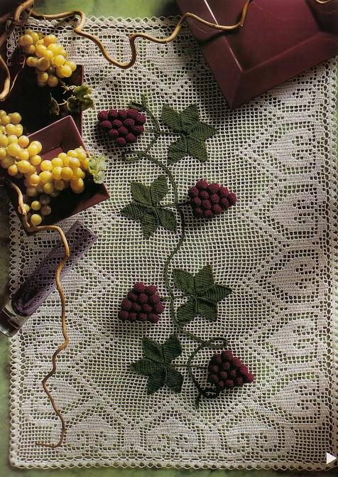 Centro de mesa com uvas