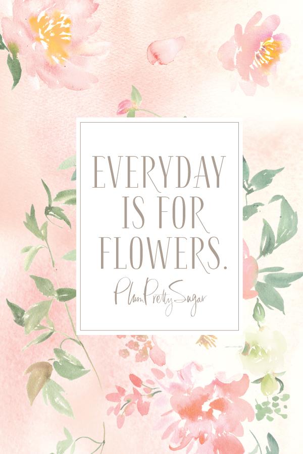 Downloadable Flowers  Plum Pretty Sugar