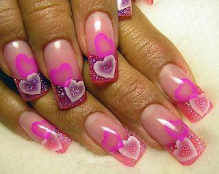 dibujos de corazones para uñas