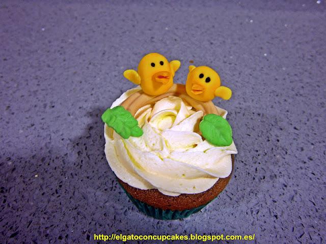 cupcakes pájaros